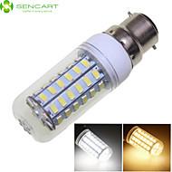 お買い得  LED コーン型電球-SENCART 1600-1900 lm B22 LEDコーン型電球 56 LEDビーズ SMD 5730 装飾用 温白色 / クールホワイト 220-240 V / 110-130 V / RoHs