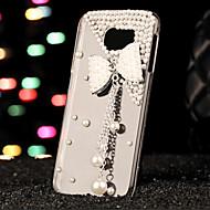 Недорогие Чехлы и кейсы для Galaxy S7-Кейс для Назначение SSamsung Galaxy Кейс для  Samsung Galaxy Стразы Кейс на заднюю панель 3D в мультяшном стиле ПК для S7 edge S7 S6 edge