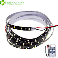 SENCART 2 M 120 3528 SMD Hvid Chippable/Fjernbetjening/Dæmpbar/Koblingsbar/Passer til Køretøjer/Selvklæbende 10 W Fleksible LED-lysstriber