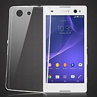 お買い得  携帯電話ケース-ケース 用途 ソニーのXperia Z3コンパクト / Sony Sonyケース クリア バックカバー ソリッド ソフト TPU のために Sony Xperia Z3 Compact / Sony