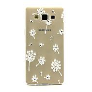 Для Кейс для  Samsung Galaxy Стразы / Прозрачный / С узором Кейс для Задняя крышка Кейс для Одуванчик TPU Samsung A5