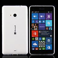 お買い得  携帯電話ケース-ケース 用途 Nokia ノキアLumia 830 Nokiakケース 超薄型 クリア バックカバー 純色 ソフト TPU のために ノキアLumia 535
