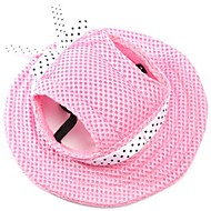 tanie Artykuły dla zwierząt-Kot / Pies Bandany i kalepusiki Ubrania dla psów Jendolity kolor Różowy / Stripe / Biały / Różowy Materiał Kostium Dla zwierząt domowych