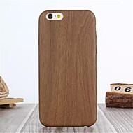 Недорогие Кейсы для iPhone 8 Plus-Назначение iPhone X iPhone 8 iPhone 6 iPhone 6 Plus Чехлы панели Other Задняя крышка Кейс для Имитация дерева Твердый Искусственная кожа