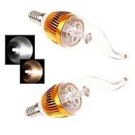 E14 LED-kaarslampen 5LED leds COB Warm wit Koel wit 450lm 2800-3500/6000-6500K AC 85-265V