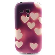 Для Кейс для  Samsung Galaxy С узором Кейс для Задняя крышка Кейс для С сердцем TPU Samsung S3 Mini