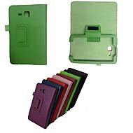abordables Fundas / Carcasas para Samsung Tab-Funda Para Samsung Galaxy Funda Samsung Galaxy con Soporte Flip Funda de Cuerpo Entero Un Color Cuero de PU para Tab 3 Lite