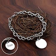 Personlig Smycken Rostfritt stål - i silver - Armband