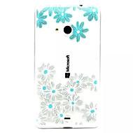 Назначение Кейс для Nokia Чехлы панели Прозрачный Рельефный Задняя крышка Кейс для Цветы Мягкий Термопластик для Nokia Nokia Lumia 535