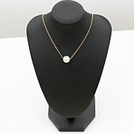 Недорогие $0.99 Модное ювелирное украшение-Жен. Ожерелья с подвесками - Нержавеющая сталь, Стразы Ожерелье Назначение Свадьба, Для вечеринок, Повседневные
