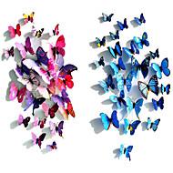 3D-simulatie van 3D-vlinder vorm wanddecoraties kunst aan de muur