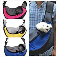 고양이 강아지 캐리어&여행용 배낭 전면 배낭 애완동물 바구니 휴대용 통기성 옐로우 레드 그린 블루