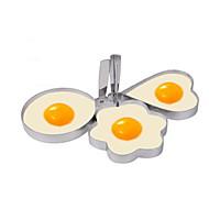 お買い得  キッチン用小物-キッチンツール プラスチック クリエイティブキッチンガジェット DIYの金型 卵のための 3本