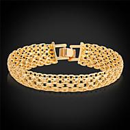 ieftine -Bărbați Pentru femei Brățări cu Lanț & Legături Bratari Vintage Placat cu platină Bijuterii brățară Auriu / Argintiu Pentru Nuntă Petrecere Zilnic Casual Sport / Placat Auriu
