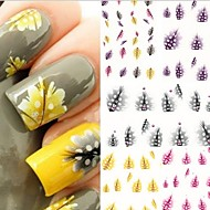 3D Acțibilduri de Unghii - Deget/Vârf - Floare/Abstract/Încântător - Alte - 10.5X7X0.5 - 5