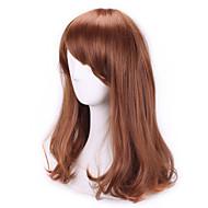 жен. Парики из искусственных волос Без шапочки-основы Кудрявые Коричневый С чёлкой Карнавальные парики