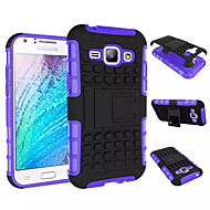 billige Galaxy J1 Etuier-For Samsung Galaxy etui Stødsikker Med stativ Etui Bagcover Etui Armeret PC for Samsung Young 2 J1 Grand Prime Core Prime Ace 4