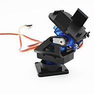 2 ejes cabeza de la cámara FPV cuna w / 9g servo dual / aparato de gobierno para el robot / r / c coche - negro + azul