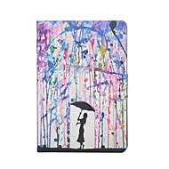 ζωγραφίσει μοτίβο βροχής PU δερμάτινη θήκη με προστατευτικό οθόνης και γραφίδα για μίνι iPad 1/2/3