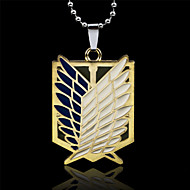 cheap Cosplay & Costumes-Jewelry Inspired by Attack on Titan Eren Jager Anime Cosplay Accessories Necklace Golden / Silver Alloy Male