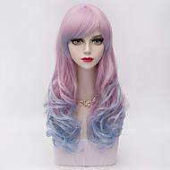 Недорогие Парики-Искусственные волосы парики Естественные волны Карнавальный парик Парик для Хэллоуина Фиолетовый
