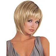 olcso Szintetikus parókák-Női Szintetikus parókák Géppel készített Rövid Hosszú Egyenes Bob frizura Bretonnal Természetes paróka jelmez paróka