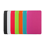 billige Galaxy Tab S 10.5 Etuier-Etui Til Tab S 10.5 Tab S 8.4 Samsung Galaxy Samsung Galaxy etui Med stativ Auto Sluk Flip Origami Fuldt etui Helfarve PU Læder for Tab 4