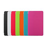 Için Samsung Galaxy Kılıf Satandlı / Oto Uyu/Uyan / Flip / Origami Pouzdro Tam Kaplama Pouzdro Solid Renkli PU Deri SamsungTab 4 10.1 /