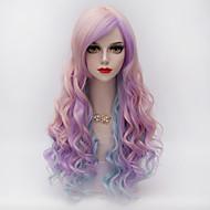 billige Parykker-Syntetisk hår Parykker Bølget Lågløs Carnival Paryk Halloween Paryk