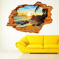 preiswerte -Stillleben Romantik Spiegel Mode Botanisch Cartoon Design Feiertage Transport 3D Wand-Sticker 3D Wand Sticker Dekorative Wand Sticker,
