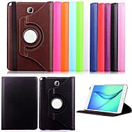 ji de 360 graus rodado pu couro caso inteligente capa do livro stand titular para Samsung Galaxy Tab 9,7 T550 / guia um t350 8,0