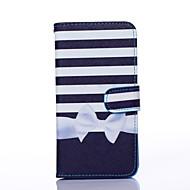 Для Кейс для  Samsung Galaxy Бумажник для карт / Кошелек / со стендом / Флип Кейс для Чехол Кейс для Полосы / волосы Искусственная кожа