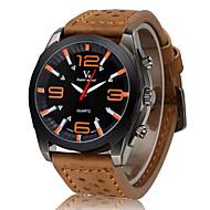 preiswerte -V6 Herrn Militäruhr Armbanduhr Quartz Japanischer Quartz Leder Band Schwarz Braun Khaki
