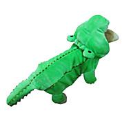 abordables Hogar y Mascotas-Perro Disfraces Accesorios Saco y Capucha Ropa para Perro Animal Verde Algodón Disfraz Para mascotas Hombre Mujer Cosplay Halloween