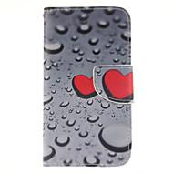 Недорогие Чехлы и кейсы для Galaxy J5-Для Кейс для  Samsung Galaxy Бумажник для карт / Кошелек / со стендом / Флип Кейс для Чехол Кейс для С сердцем Искусственная кожа Samsung
