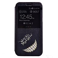 Для Кейс для  Samsung Galaxy со стендом / с окошком Кейс для Чехол Кейс для Черный и белый Искусственная кожа Samsung J7 / J5