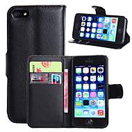 Недорогие Кейсы для iPhone 8-Кейс для Назначение Apple iPhone 8 / iPhone 8 Plus / iPhone 6 Plus Кошелек / Бумажник для карт / со стендом Чехол Однотонный Твердый Кожа PU для iPhone 8 Pluss / iPhone 8 / iPhone 7 Plus