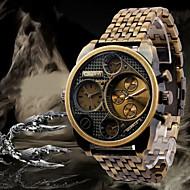 Недорогие Фирменные часы-Oulm Муж. Наручные часы Кварцевый С двумя часовыми поясами Нержавеющая сталь Группа Аналоговый Роскошь Черный / Бронза / Розовое золото - Черный Бронзовый Розовое золото Два года Срок службы батареи