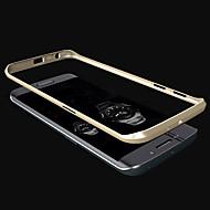 Для Кейс для  Samsung Galaxy Покрытие Кейс для Бампер Кейс для Один цвет Металл Samsung S6 edge