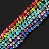 hesapli Mücevher&Saatler-DIY Mücevherat Taş Mor Kırmzı Yeşil Mavi Açık Yeşil Round Shape boncuk DIY Kolyeler Bilezikler