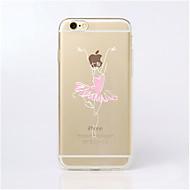 Назначение iPhone X iPhone 8 Кейс для iPhone 5 Чехлы панели Прозрачный С узором Задняя крышка Кейс для Соблазнительная девушка Мягкий