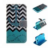 Для Кейс для  Samsung Galaxy Бумажник для карт / Кошелек / со стендом / Флип Кейс для Чехол Кейс для Якорь Искусственная кожа SamsungJ5 /
