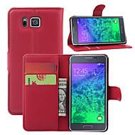 Недорогие Чехлы и кейсы для Galaxy Ace 4-Кейс для Назначение SSamsung Galaxy Кейс для  Samsung Galaxy Кошелек / Бумажник для карт / со стендом Чехол Однотонный Кожа PU для Young 2 / Core / Alpha