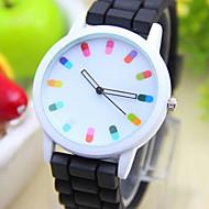 tanie Modne zegarki-Kwarcowy Na codzień PU Pasmo Urok Modny Czarny Biały Niebieski Czerwony Pomarańczowy Zielnony Różowy Purpurowy żółty