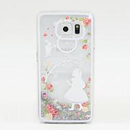Na Samsung Galaxy Etui Z płynem Kılıf Etui na tył Kılıf Brokat PC Samsung S6 / S5 / S4