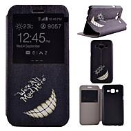 Voor Samsung Galaxy hoesje met standaard / met venster hoesje Volledige behuizing hoesje Zwart & Wit PU-leer Samsung J7 / J5