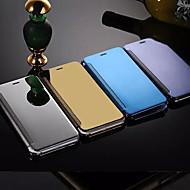 Недорогие Кейсы для iPhone 8 Plus-Кейс для Назначение Apple iPhone 8 Plus iPhone 6 iPhone 6 Plus Зеркальная поверхность Флип Чехол Сплошной цвет Твердый Металл для iPhone