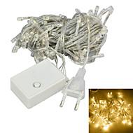jiawen® 10m 4w 100 led 8-mode warm wit licht decoratie lichtslingers (eu plug, ac 220v)