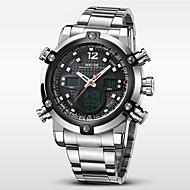 Недорогие Фирменные часы-WEIDE Муж. Кварцевый Японский кварц Наручные часы Будильник Календарь Секундомер Защита от влаги Спортивные часы С двумя часовыми поясами