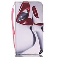 Недорогие Чехлы и кейсы для Galaxy S6 Edge Plus-Кейс для Назначение SSamsung Galaxy Кейс для  Samsung Galaxy Бумажник для карт Кошелек со стендом Флип Чехол Соблазнительная девушка Кожа
